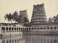 The Great Pagoda. View of the sacred tank in the Great Pagoda [Minakshi Sundareshvara Temple, Madurai] 953314